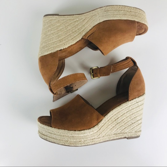 10f6bbbe366 UNIVERSAL THREAD Brown Espadrille Wedge Sandals. M 5c5c4f836a0bb7319f3c5238